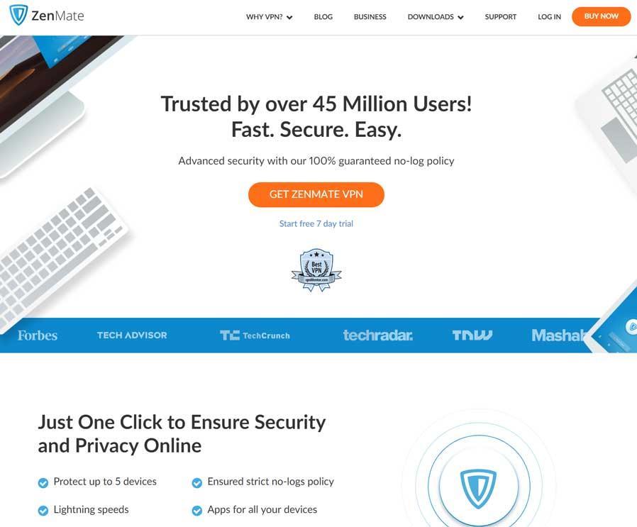 ZenMate Landing Page